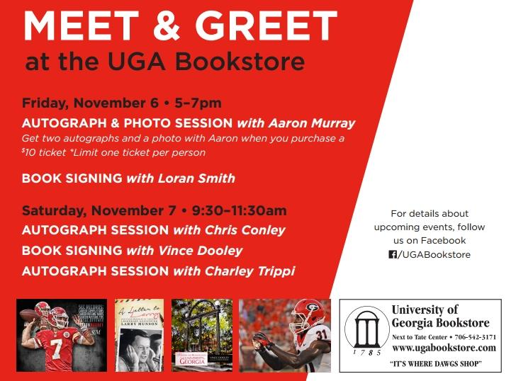 UGA Bookstore - Meet and Greet - Kentucky Game Weekend