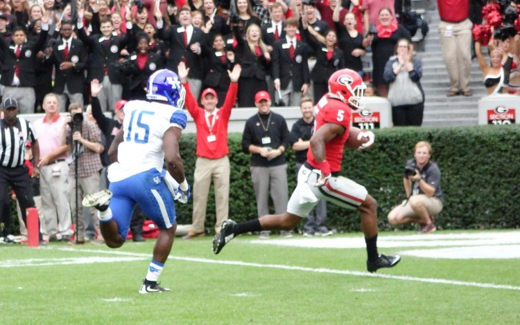 Terry Godwin scores TD - first half Kentucky vs. Georgia 07-Nov-2015