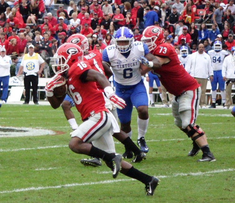 Isaiah McKenzie - second half Kentucky vs. Georgia 07-Nov-2015