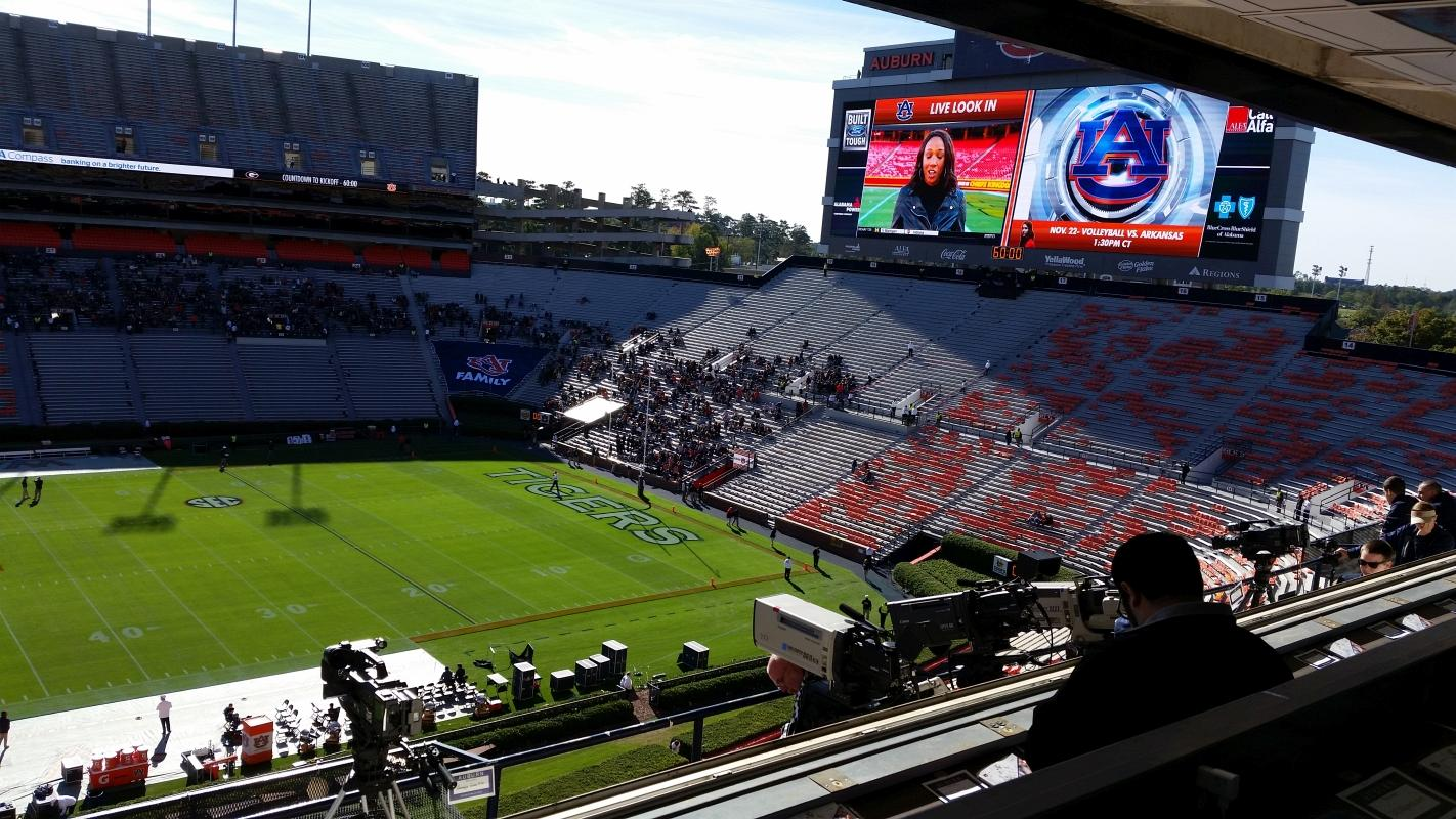 From the Press Box - Jordan-Hare Stadium - UGA vs. Auburn 14-Nov-2015 (Photo by Bulldawg Illustrated's Murray Poole)