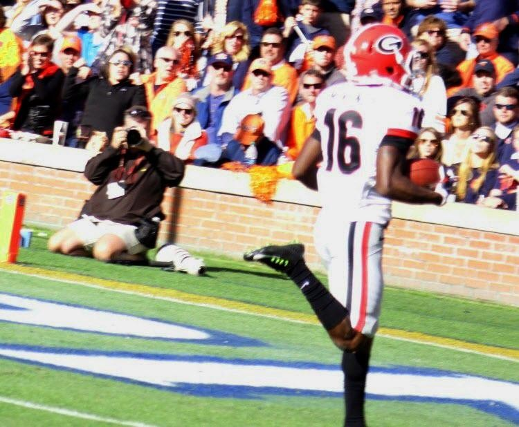 Isaiah Mckenzie punt return for TD 2nd half UGA vs. Auburn