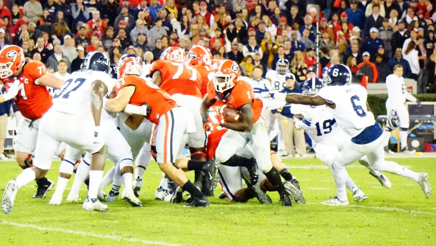 Sony Michel 2nd half GA Southern game 21-Nov-2015 (Photo by Bulldawg Illustrated's Greg Poole)