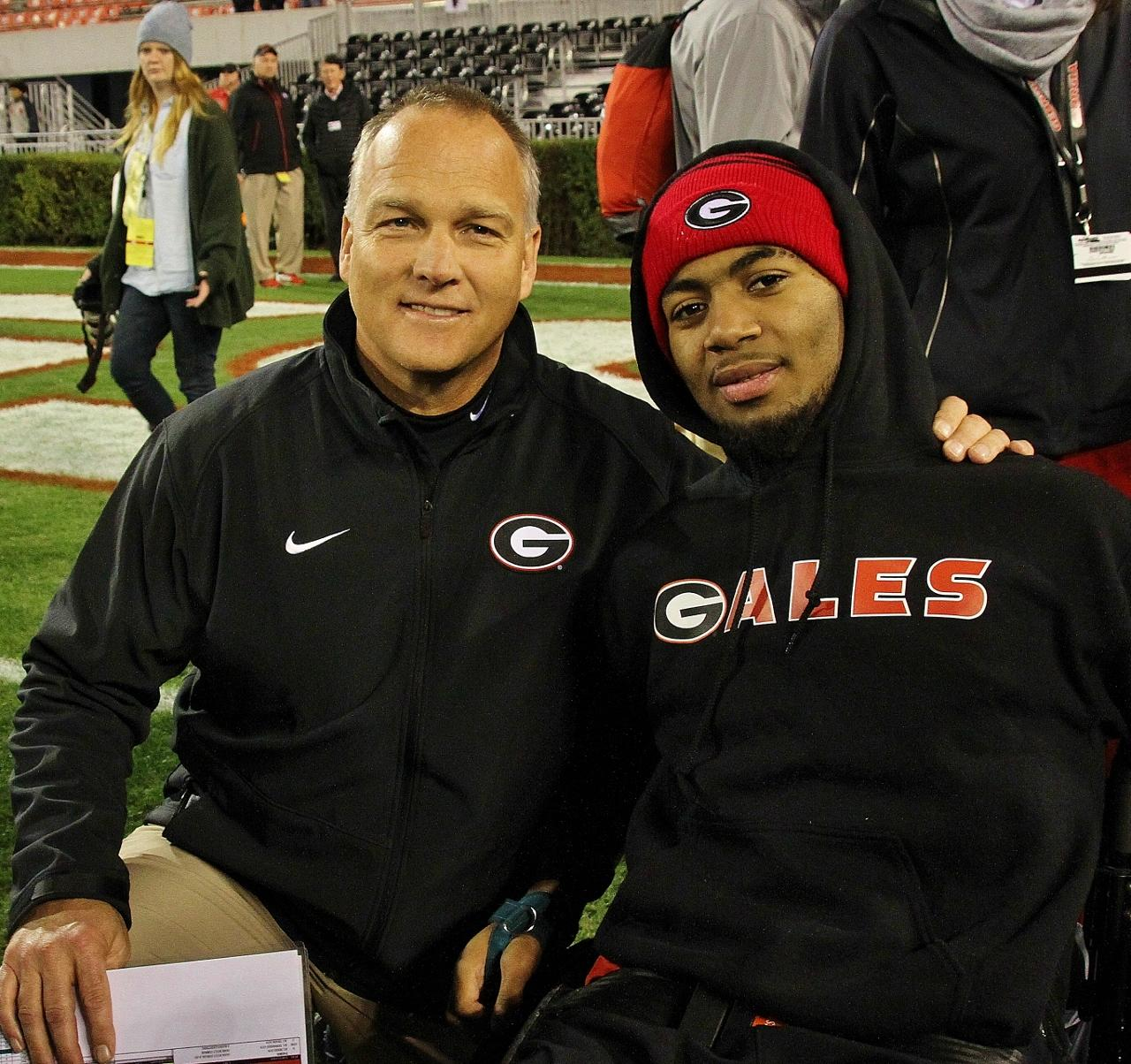 CMR with Devon Gales at GA Southern vs. Georgia game 21-Nov-2015 (Photo by Rob Saye)