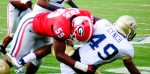 Jordan Jenkins drives GT's Lynch to the ground - 2nd half UGA vs. GT 28-Nov-2015 (2)