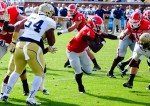 Keith Marshall with the stiff arm - 2nd half UGA vs. GT 28-Nov-2015