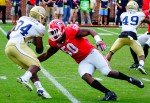 LB Johnny O'Neal ready to strike - 2nd half UGA vs. GT 28-Nov-2015