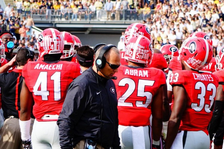 Mark Richt beginning of 4th quarter UGA vs. GT 28-Nov-2015