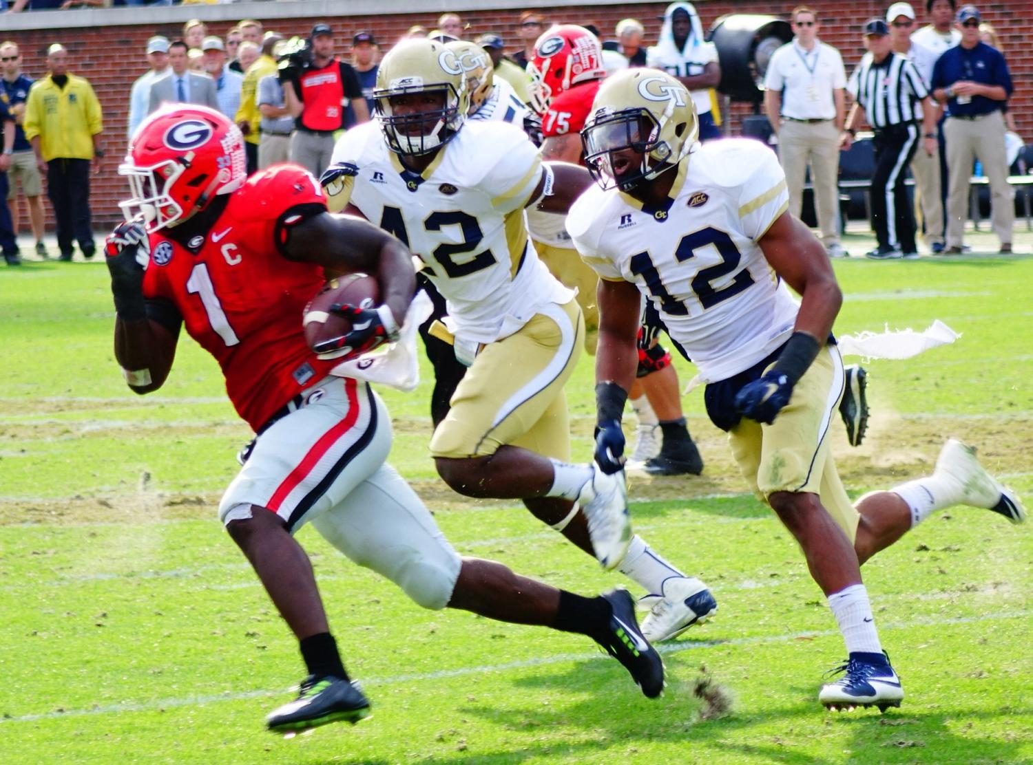Sony Michel 4th quarter - UGA vs. GT 28-Nov-2015 (Photo by Bulldawg Illustrated's Greg Poole)