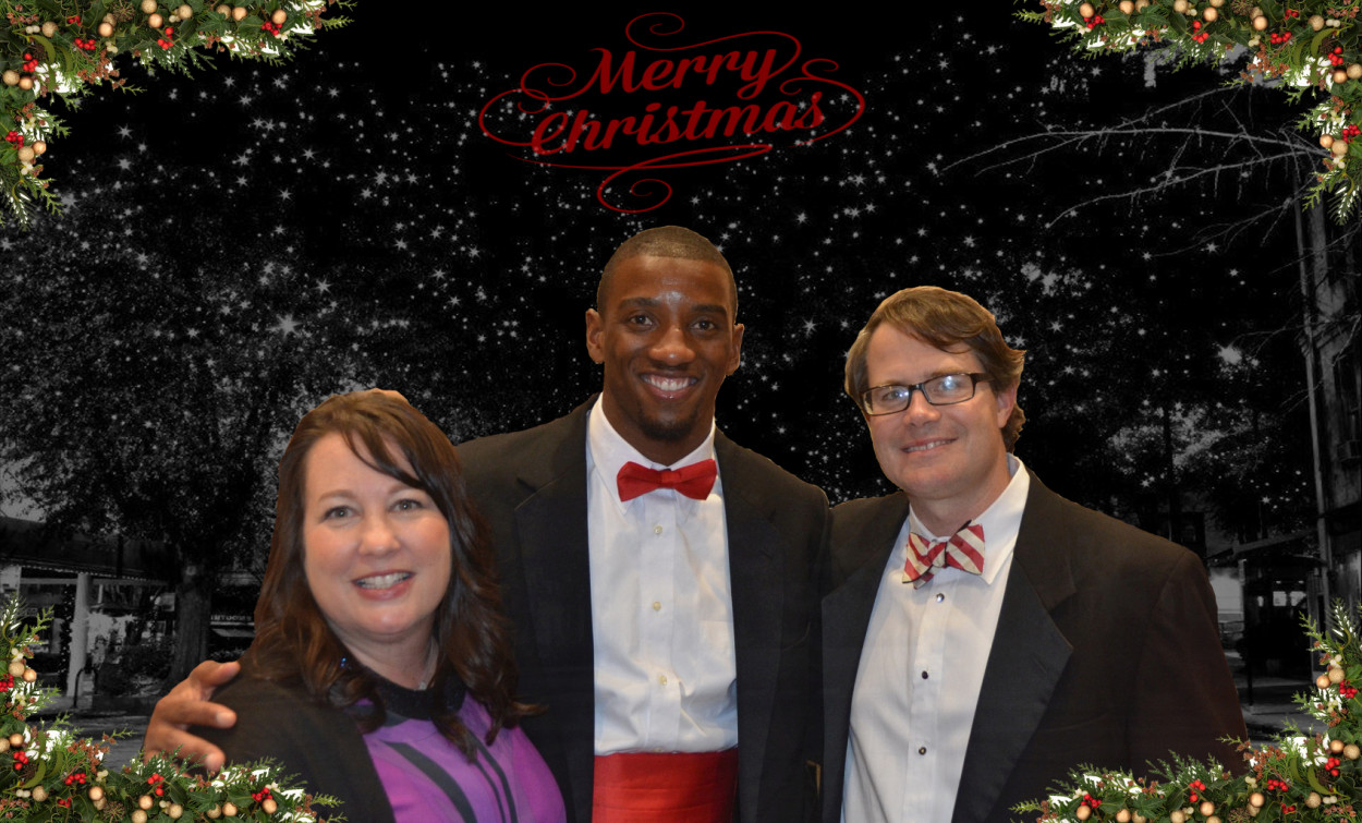 (Left) Cheri Leavy, (Middle) Malcolm Mitchell, (Right) Vance Leavy - Senior GALA 2015 (Edit by Bob Miller)