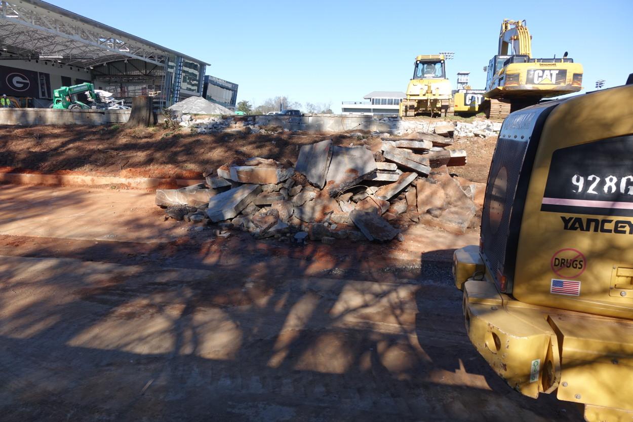 Indoor practice field construction