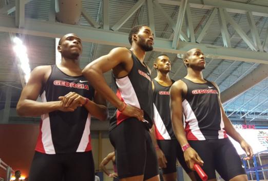 Georgia's 4x400 relay team