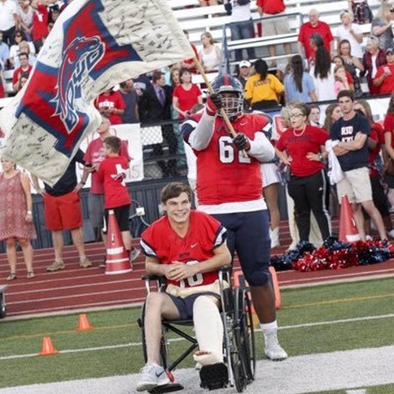 Tyrese Robinson - 2017 OL - Boyd High School, McKinney, TX (Photo courtesy of Tyrese Robinson - Twitter)
