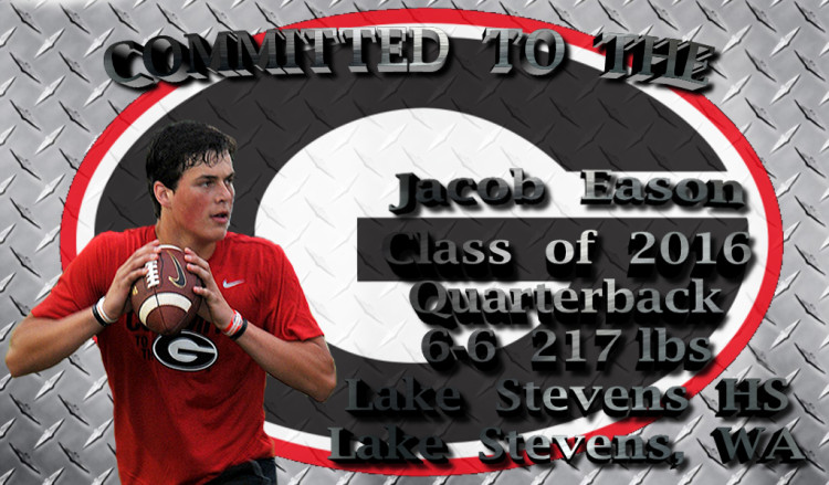 Jacob Eason - Committed To The G - edit 002 by Bob Miller