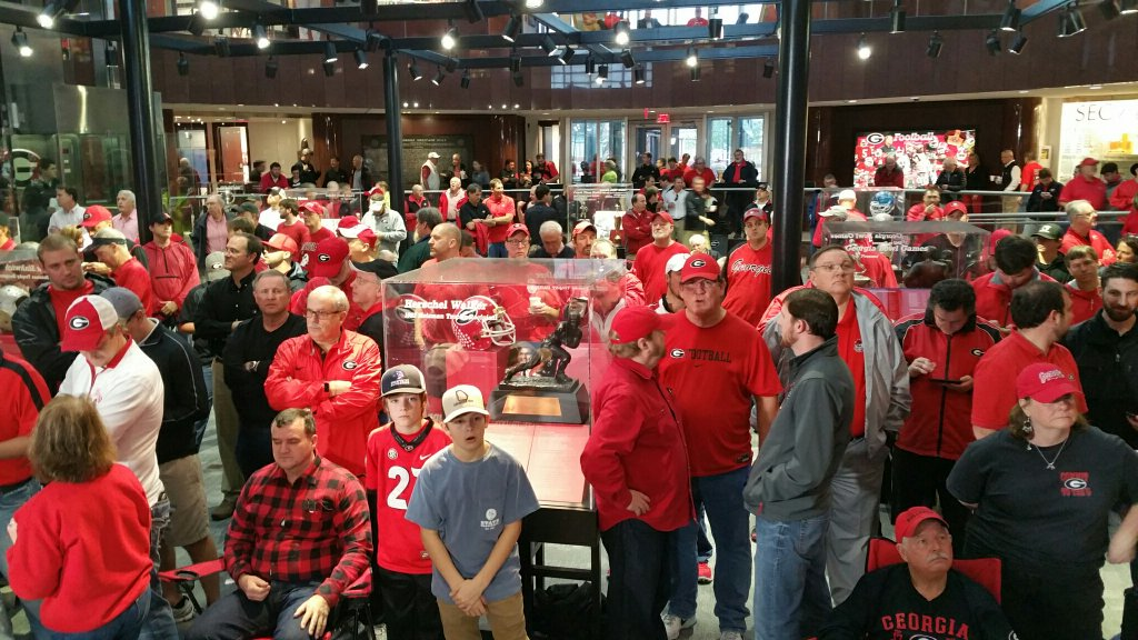 Georgia fans at Butts-Mehre for NSD 2016 (Photo by Bulldawg Illustrated's Greg Poole)