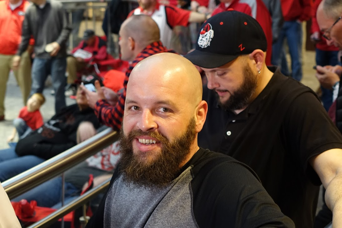 A couple of fans at Butts-Mehre, Athens, GA for National Signing Day 2016 (Photo by Bulldawg Illustrated's Greg Poole)