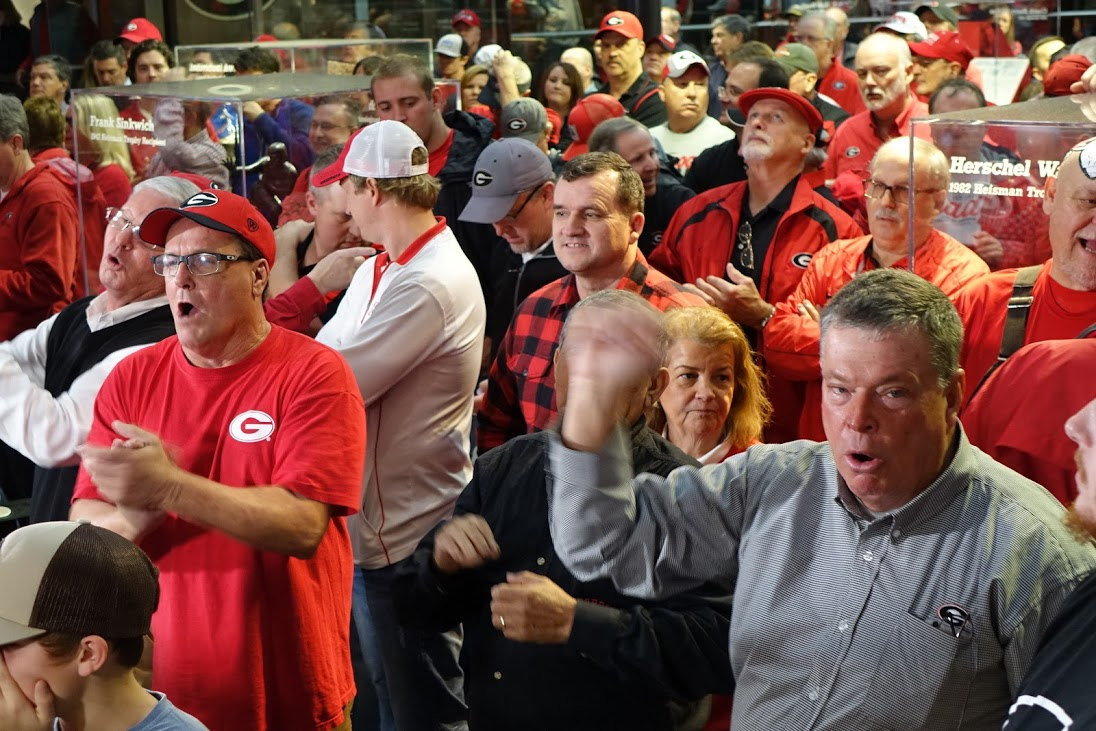 Fans react to good news on National Signing Day 2016 at Butts-Mehre, Athens, GA