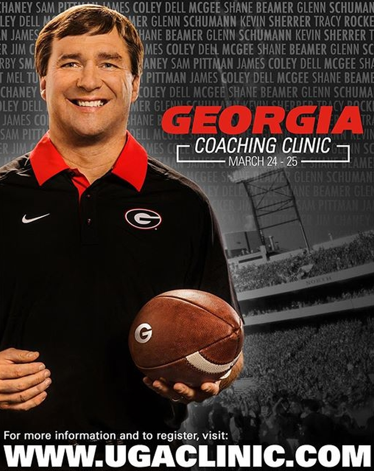 2016 Georgia Coaching Clinic (photo courtesy of UGA)