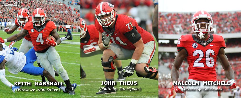 UGA's Keith Marshall, John Theus, Malcolm Mitchell NFL Draft 2016 edit by Bob Miller