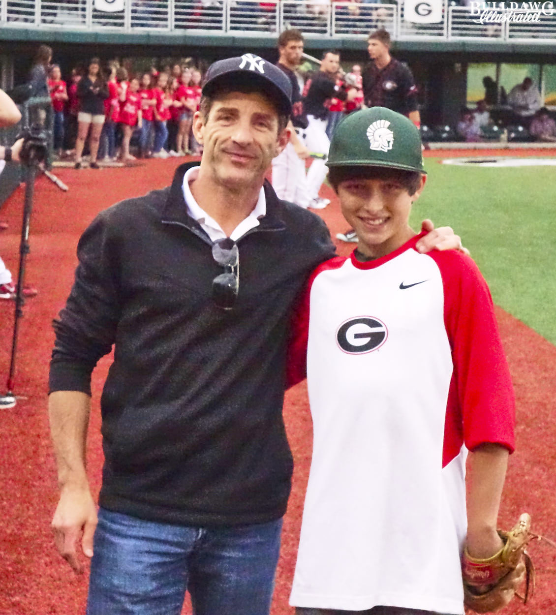 Throwing out the first pitch was a thrill