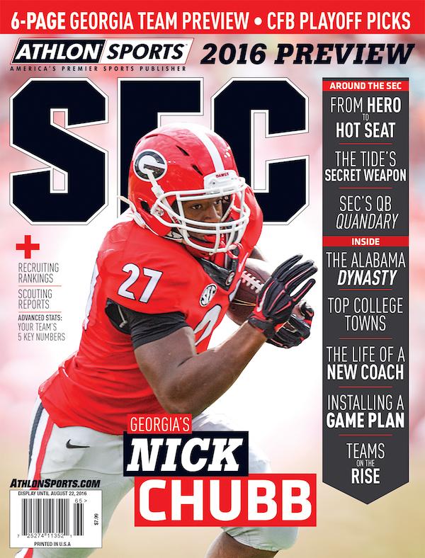 Nick Chubb cover - Athlon Sports
