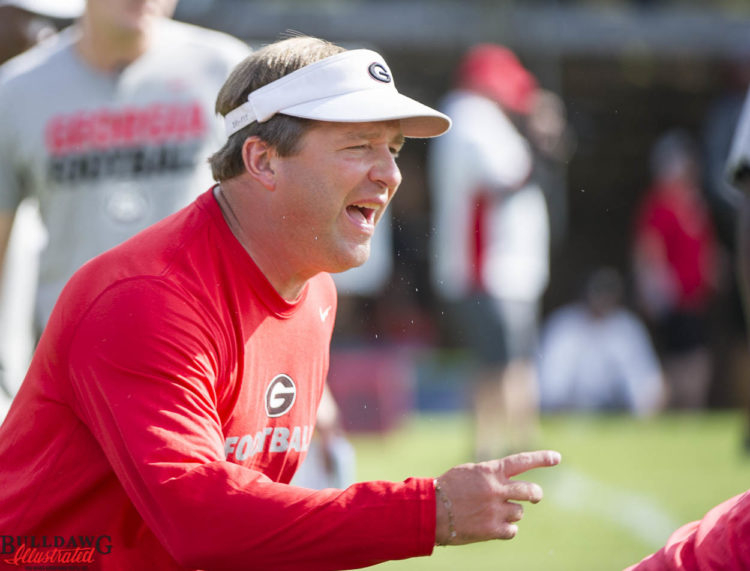 Kirby Smart is an active coach at the Kirby Smart Camps