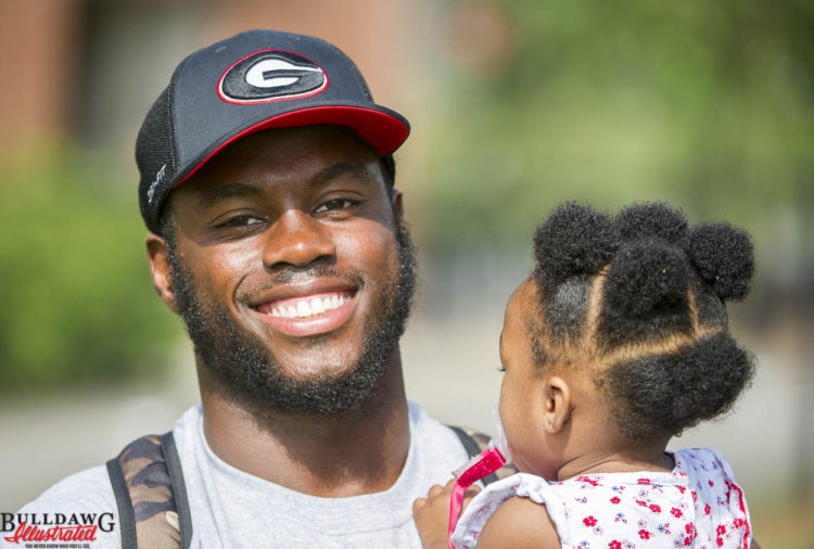 Quincy Mauger brought his godchild camp