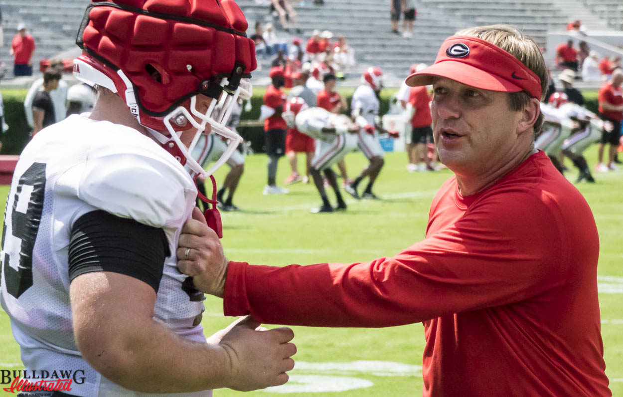 Kirby Smart demonstrates technique