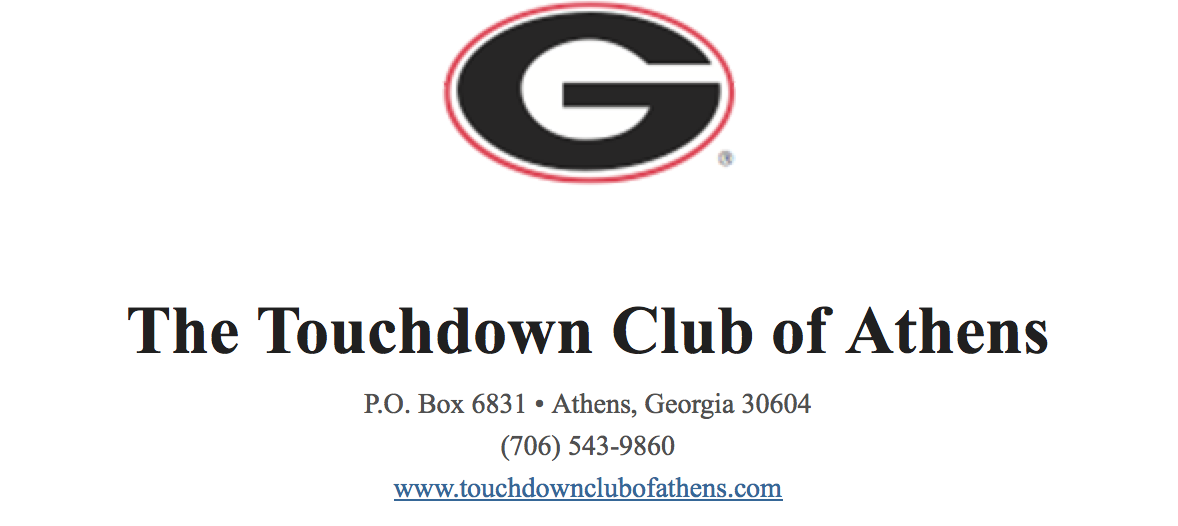The Touchdown Club of Athens graphic