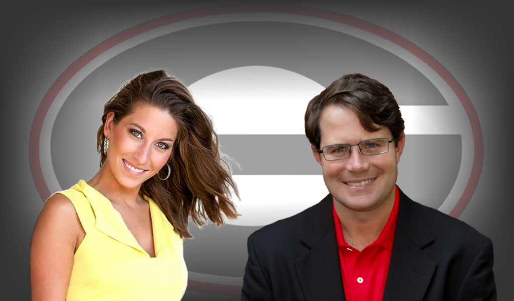 Football Forecast hosts Ella Dorsey (left) and Vance Leavy (right) [edit by Bob Miller]