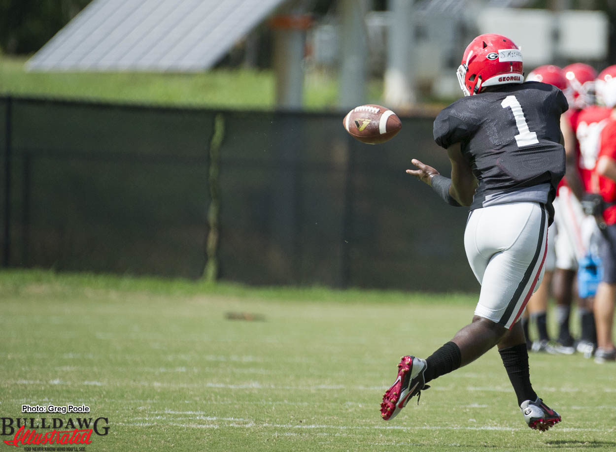 Sony Michel can catch passes with his broken arm