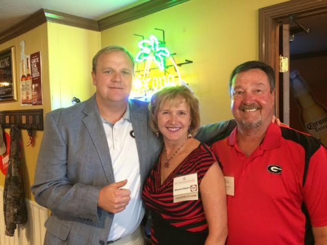 (L-R) Jeff Dantzler, Sharon Edwards and Larry Edwards