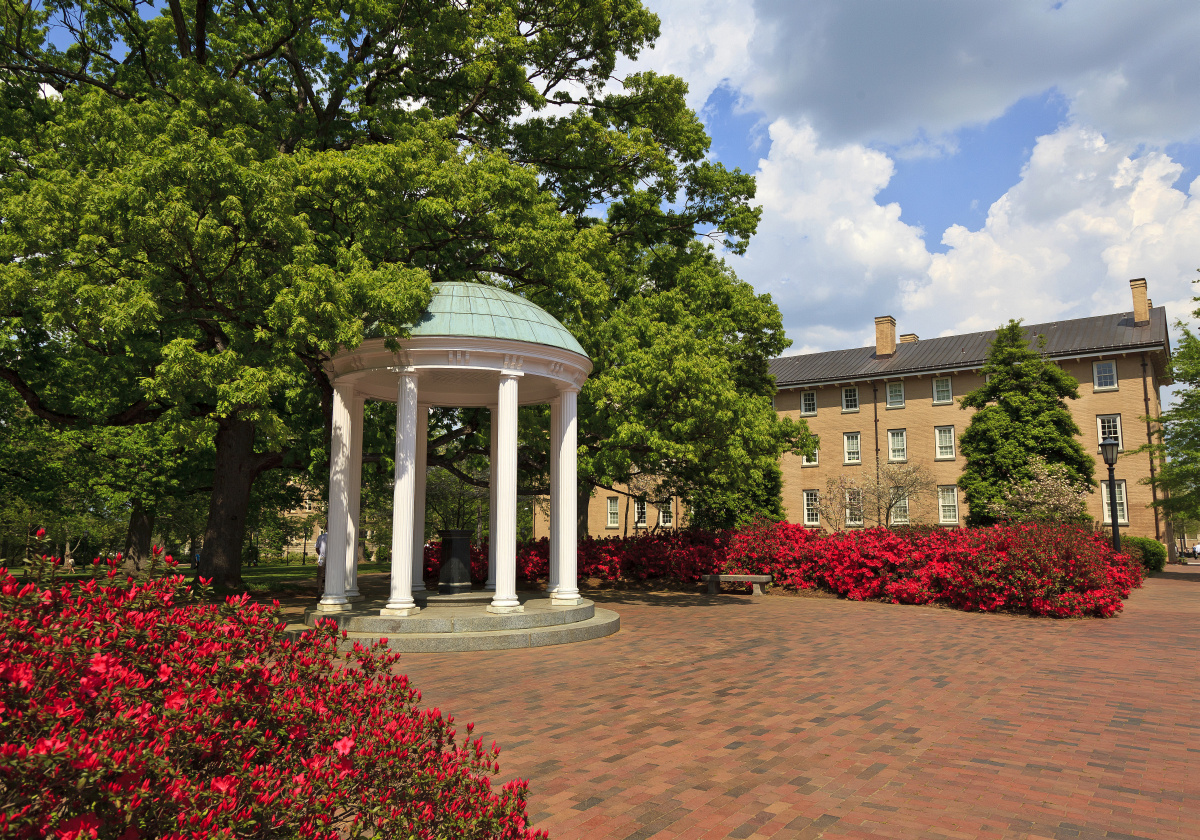 Historic Old Well at UNC Chapel Hill in North Carolina (photo from provost.unc.edu)