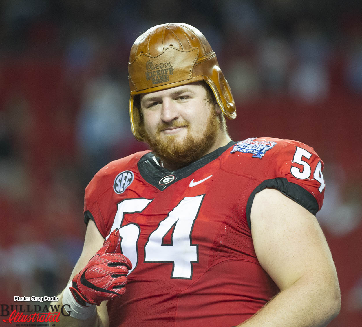 Brandon Kublanow Georgia Bulldogs Football Jersey Red
