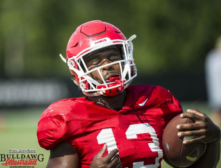 Elijah Holyfield practicing without restriction – September 7, 2016
