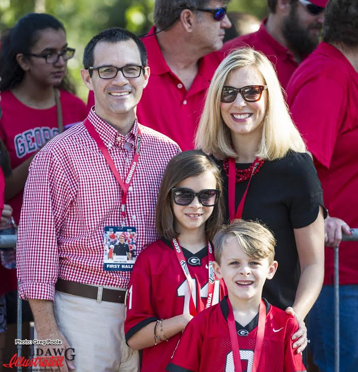CoffeeDawg, 4Dawgs and their daughter Lane. Lane is a Camp Sunshine honoree.