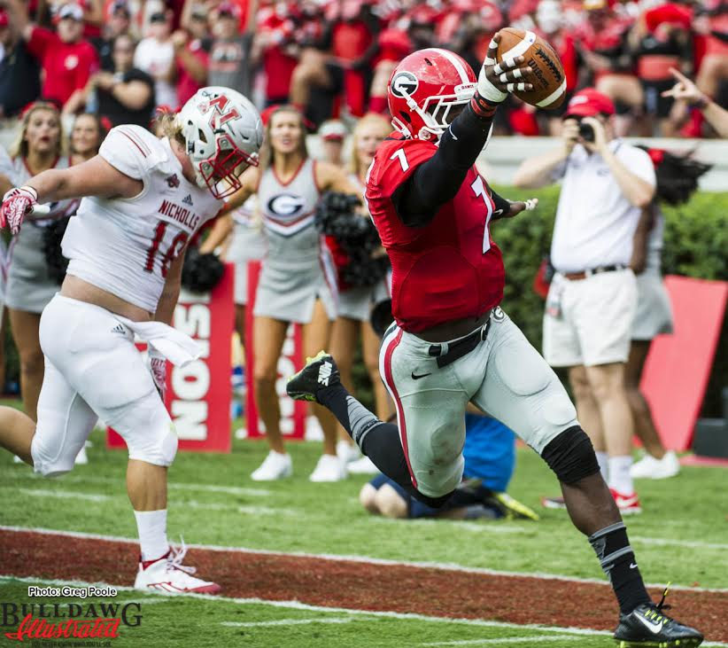 Lorenzo Carter with the scoop and score