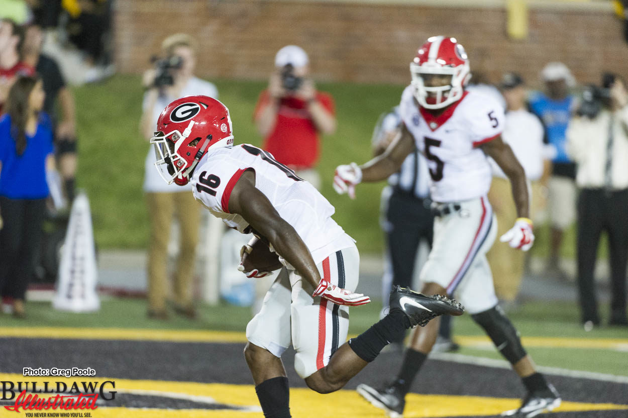 One of the three touchdowns for Isaiah McKenzie (16)