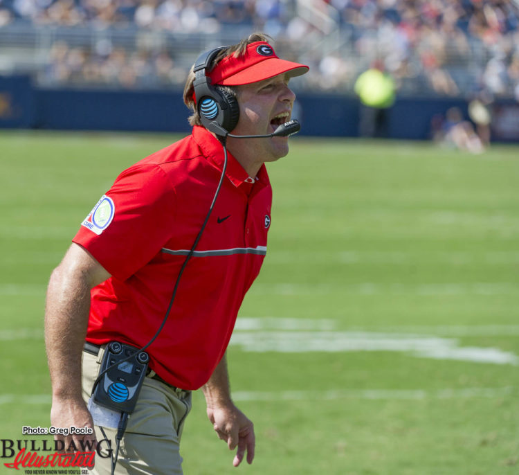 Kirby Smart never stops coaching or with the energy