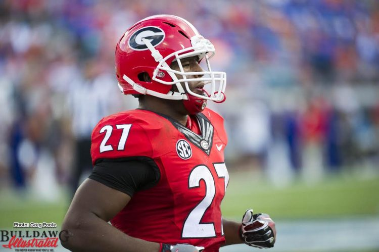 Nick Chubb - number four on the all-time UGA rushing leasder list