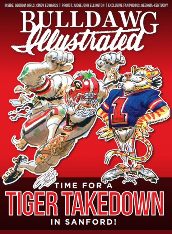 2016 Bulldawg Illustrated volume 14 issue 11 cover (Cover Art by Jack Davis)