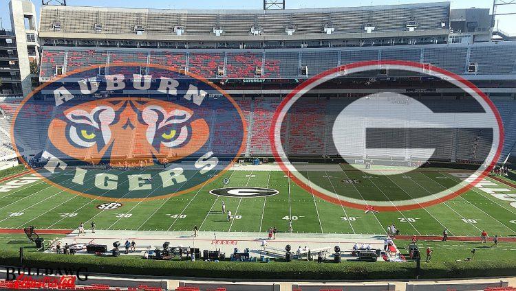 Georgia vs Auburn - From the Press Box graphic by Bob Miller