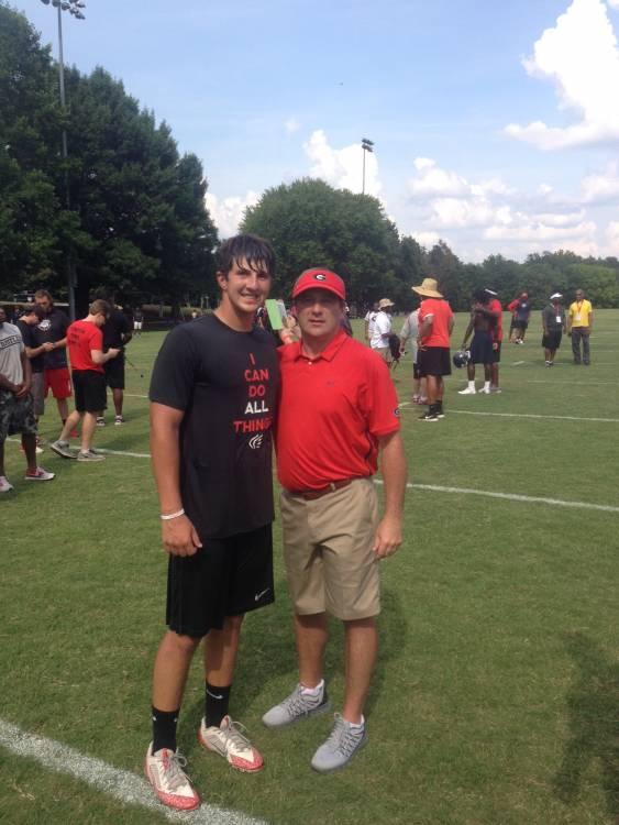 John Samuel Shenker with Coach Kirby Smart (photo John Samuel Shenker - Twitter)