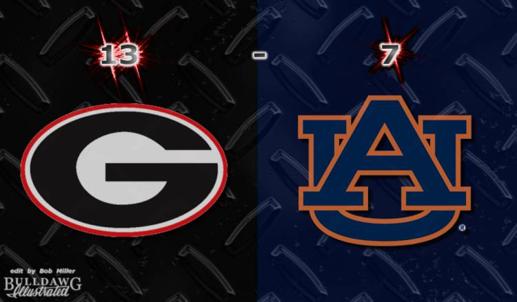 Georgia 13 - Auburn 7  edit by Bob Miller