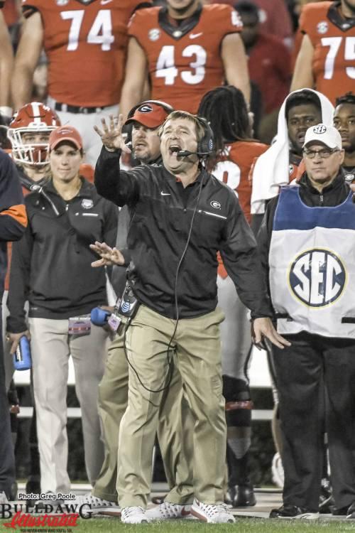 Head Coach Kirby Smart - Georgia vs Auburn 12-Nov-2016