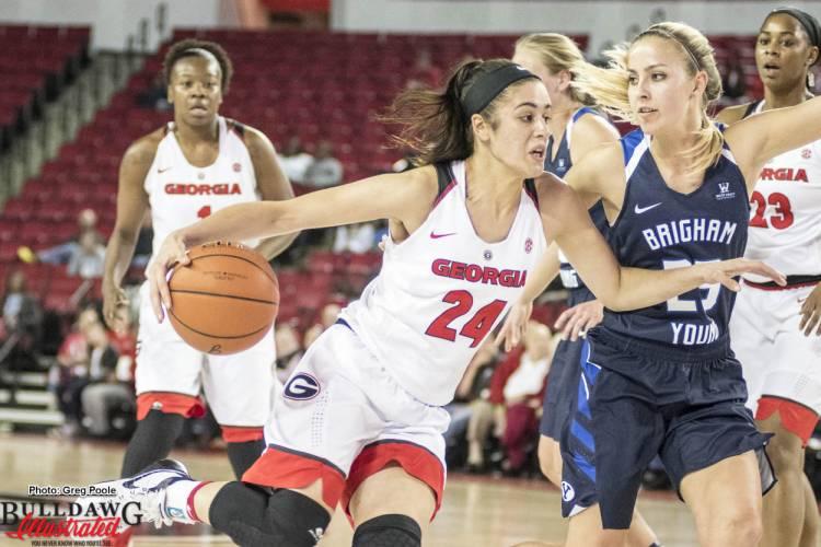 Simone Costa drives vs. BYU – November 16, 2016