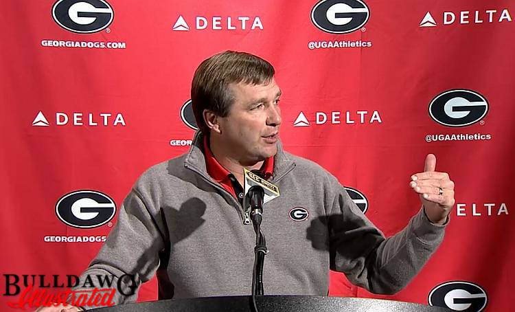 Kirby Smart during his lunchtime press conference 21-Nov-2016
