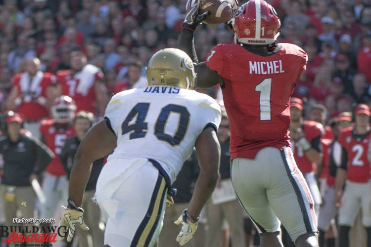 Sony Michel (1) with the catch