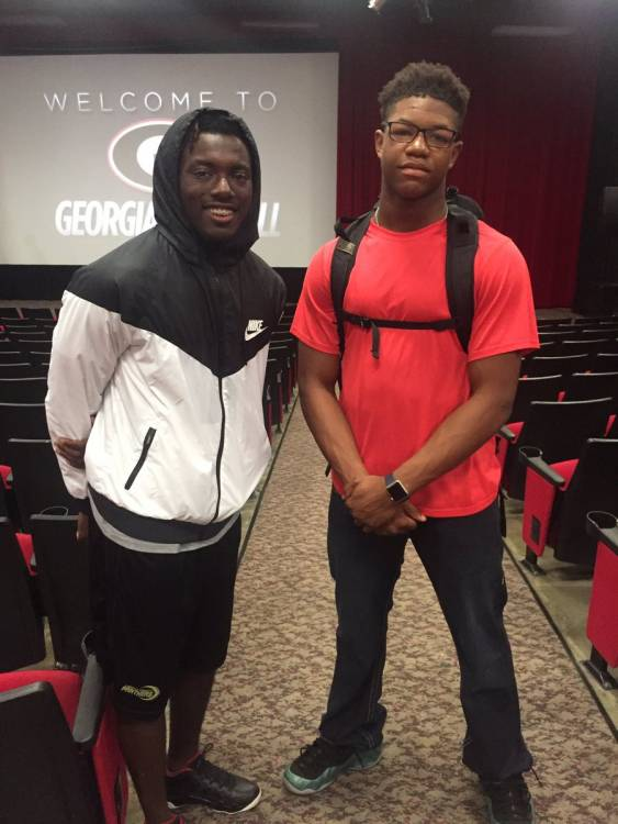 Richard LeCounte III (left) and Nolan Smith (right) (photo from Nolan Smith II - Twitter)