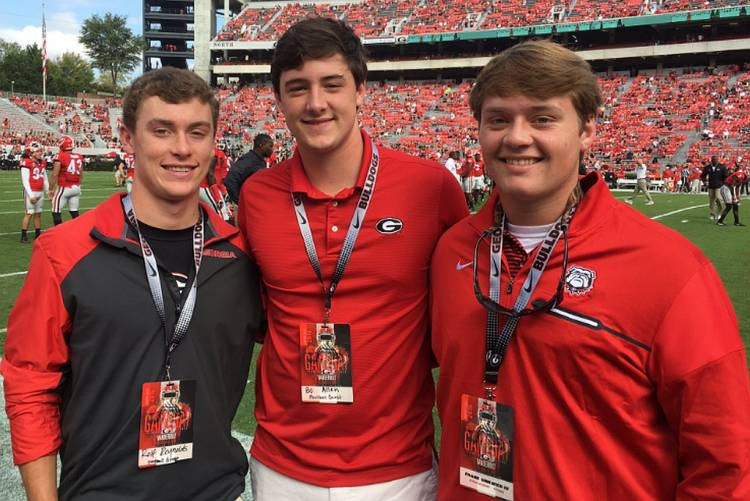 Frank Sinkwich IV (on right), Bo Allen (middle), and Ralf Reynolds (left) (photo from Frank Sinkwich IV - Twitter)