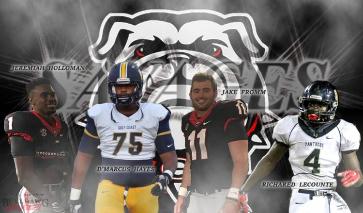 Jeremiah Holloman, D'Marcus Hayes, Jake Fromm, Richard LeCounte - Savages 2017 edit by Bob Miller
